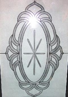 Any stained glass pattern can be duplicated, and sandblasted for lower pricing than stained glass.